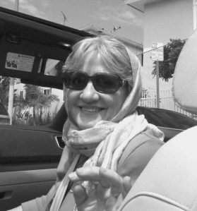 Linda in car