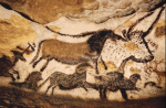 Cave drawing of animals