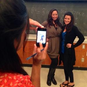 Students taking photographs