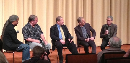 Panel at #shirleyClarke #PortraitofJason film #academy #robEpstein #jeffFriedman BobFiore DennisDoros #elvisMitchell