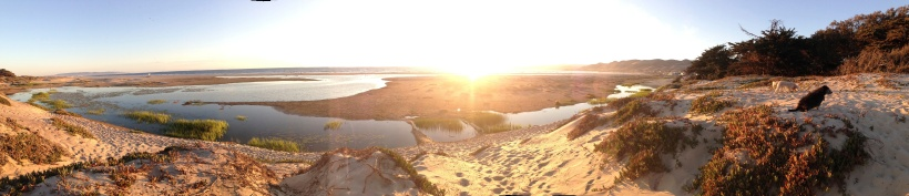 Sunrise spreads its golden light